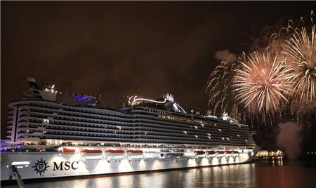 Travel Industry Gathers to Christen MSC Seaview