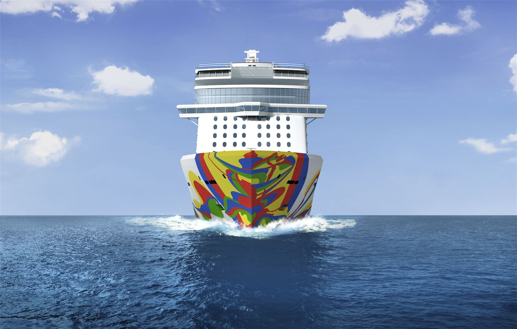 Norwegian Encore Hull Artwork.