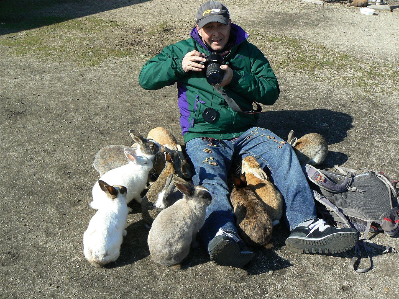 Steve on Rabbit Island