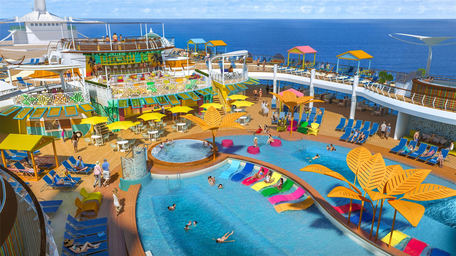 Navigator of the Seas pool deck.