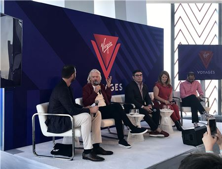 As Virgin Voyages Opens Bookings, Branson Talks Trade Commitment