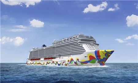 Norwegian Cruise Line Unveils Hull Artwork for Encore