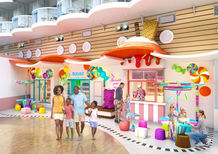 Royal Caribbean Oasis of the Seas Candy Store Sugar Beach.