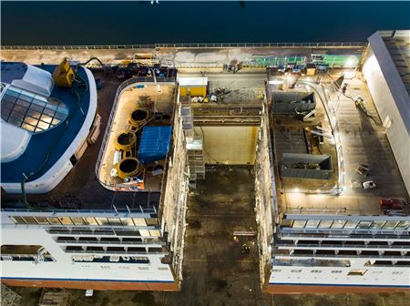 Silversea Kicks Off Lengthening Project for Silver Spirit