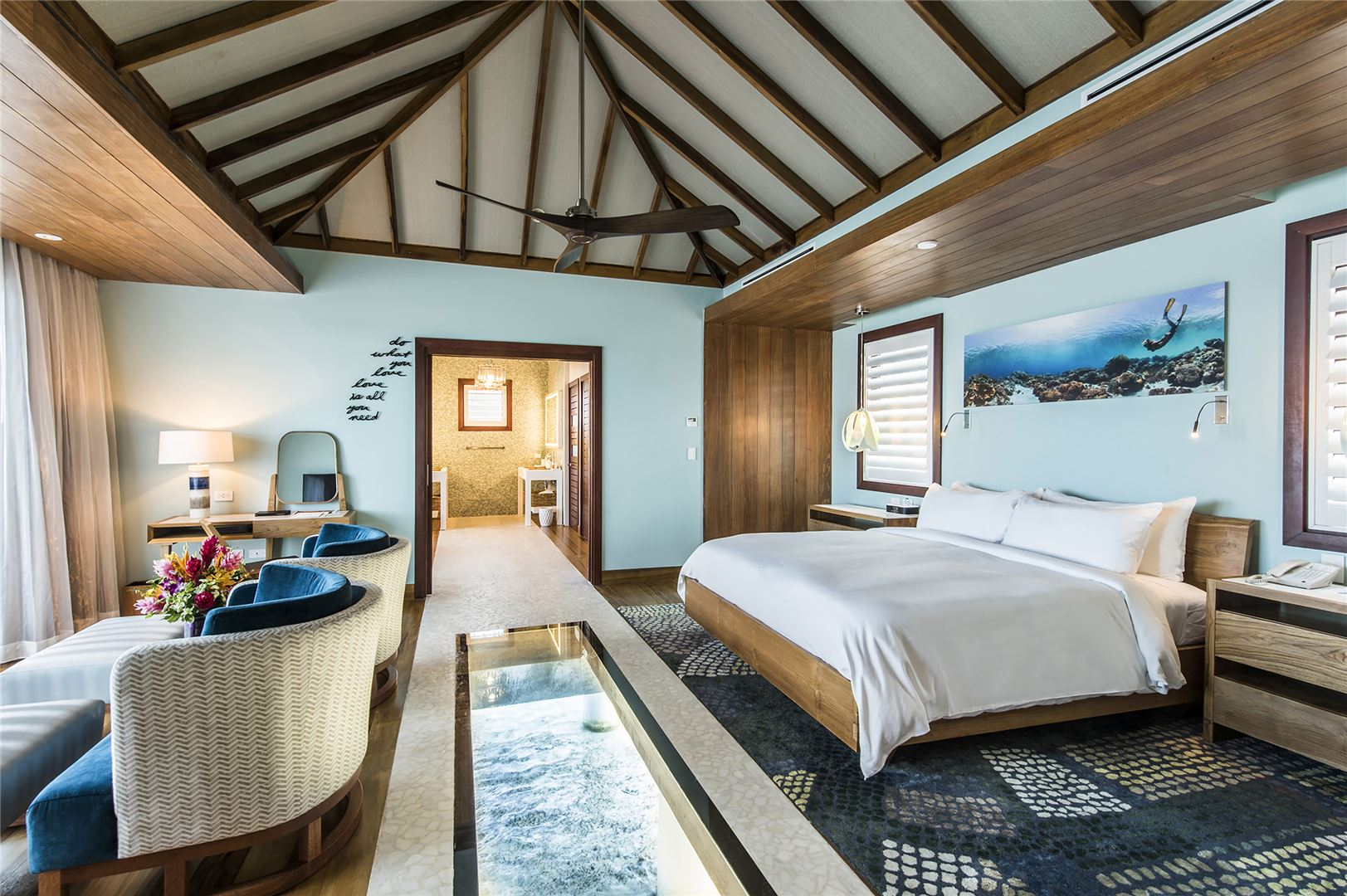 Interior Of The Water Themed Suite
