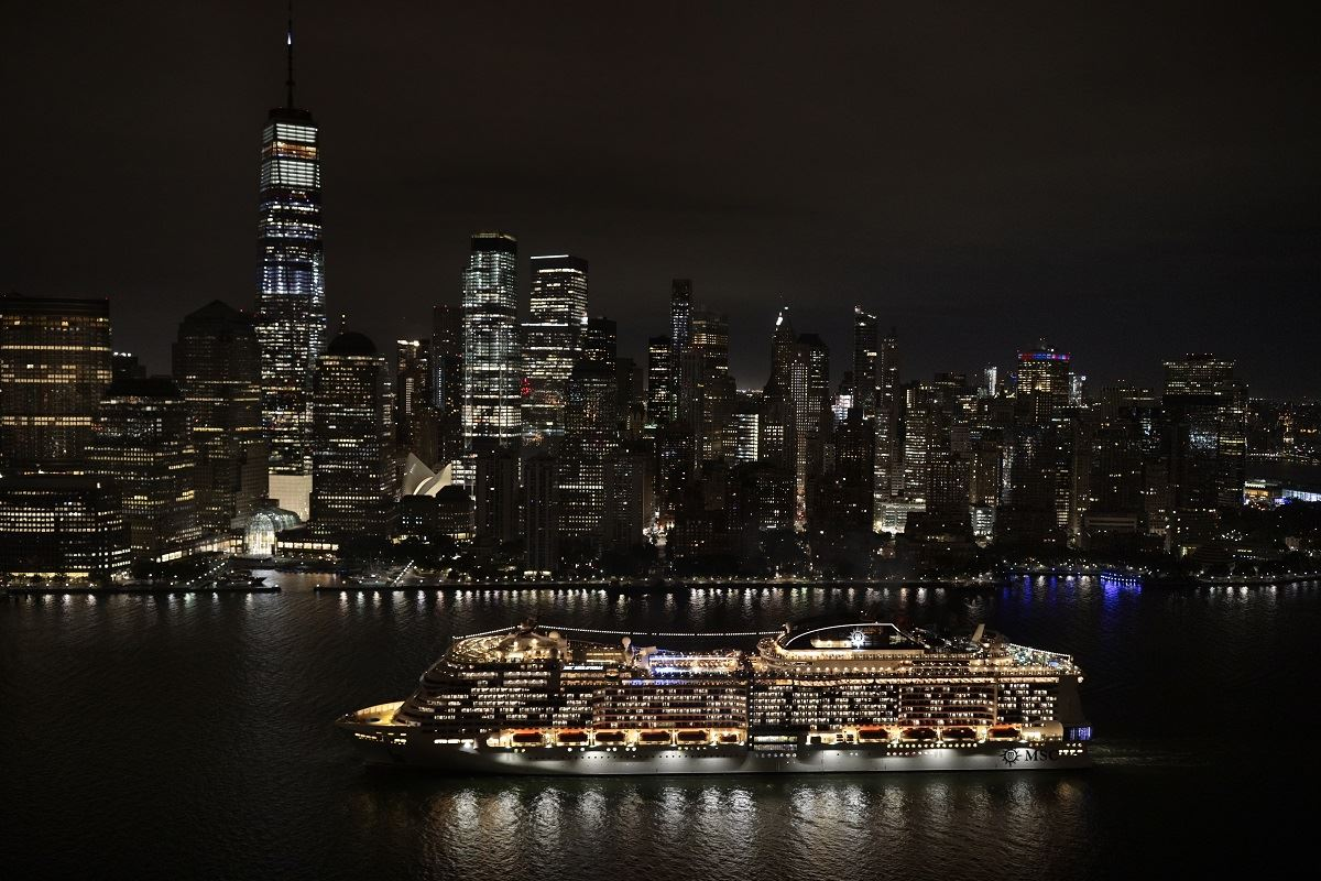 MSC Cruises' Meraviglia Arrives in New York Marking North America Debut