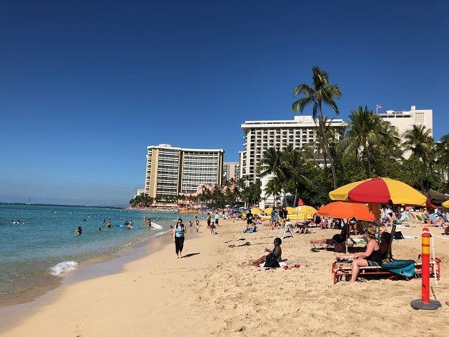 Waikiki Beach visit Oahu in the winter