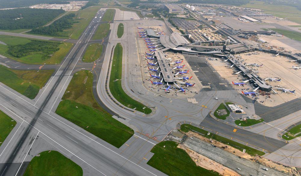 Airport longest wait times BWI