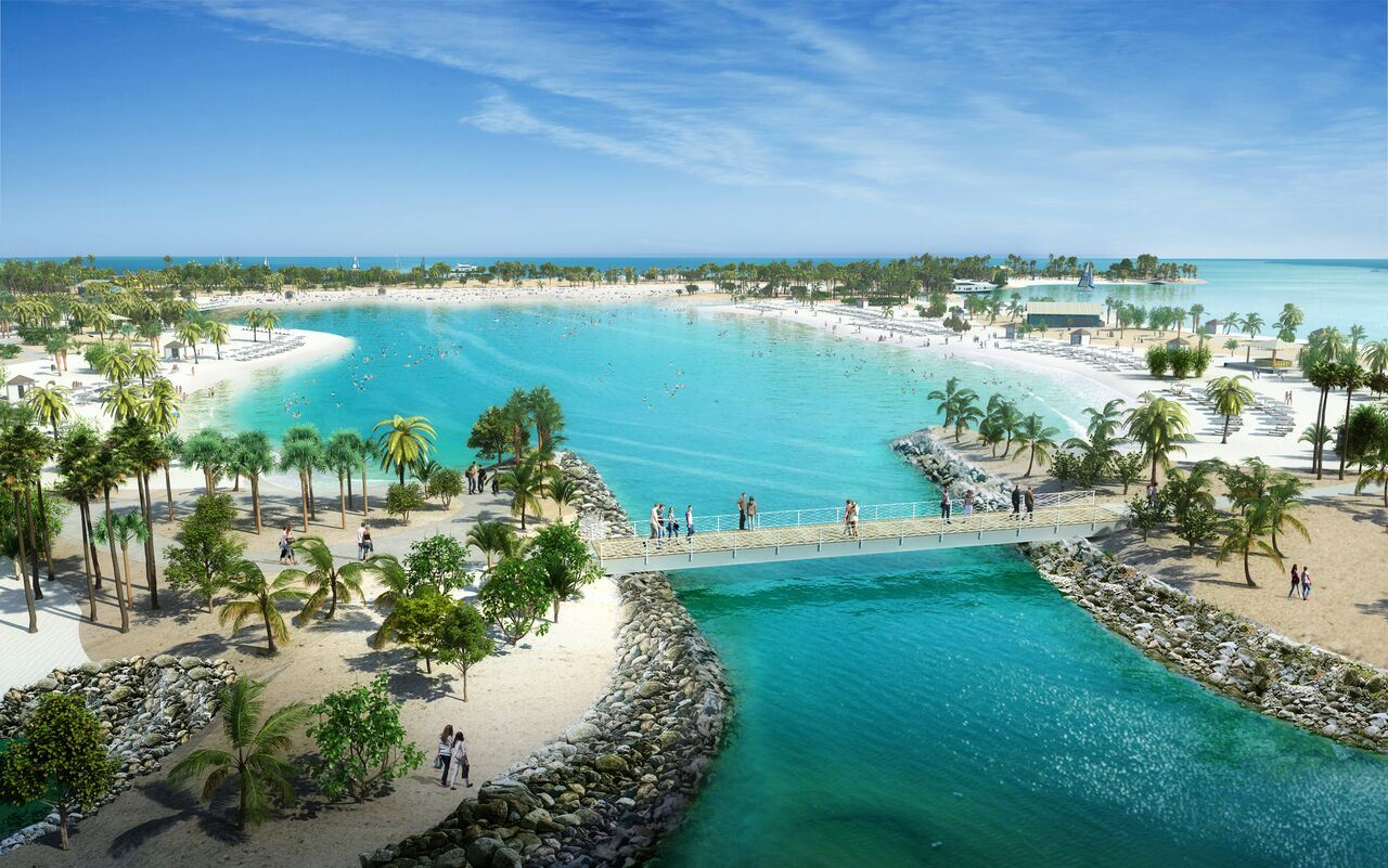 Great Lagoon MSC Cruises Ocean Cay.