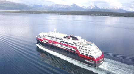 Hurtigruten Names MS Roald Amundsen in Antarctica