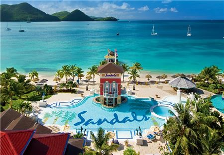 Sandals Grande St. Lucian Opens Overwater Bungalows And Wedding Chapel