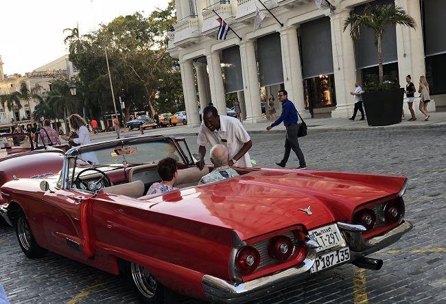 One of the Cuban caravan