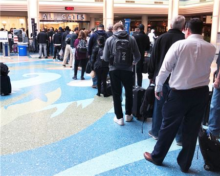 Airport Security Lines See Hour-Long Wait Times Amid Government Shutdown