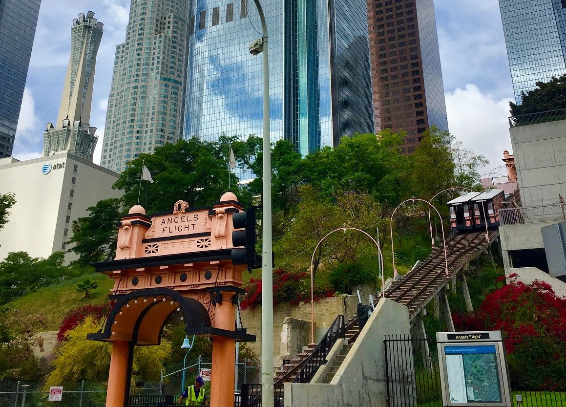 Downtown LA and Angels Flight