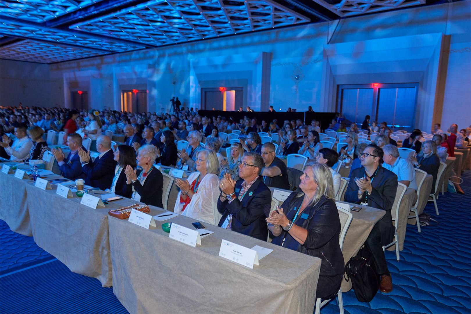 Ensemble travel agents at annual conference.