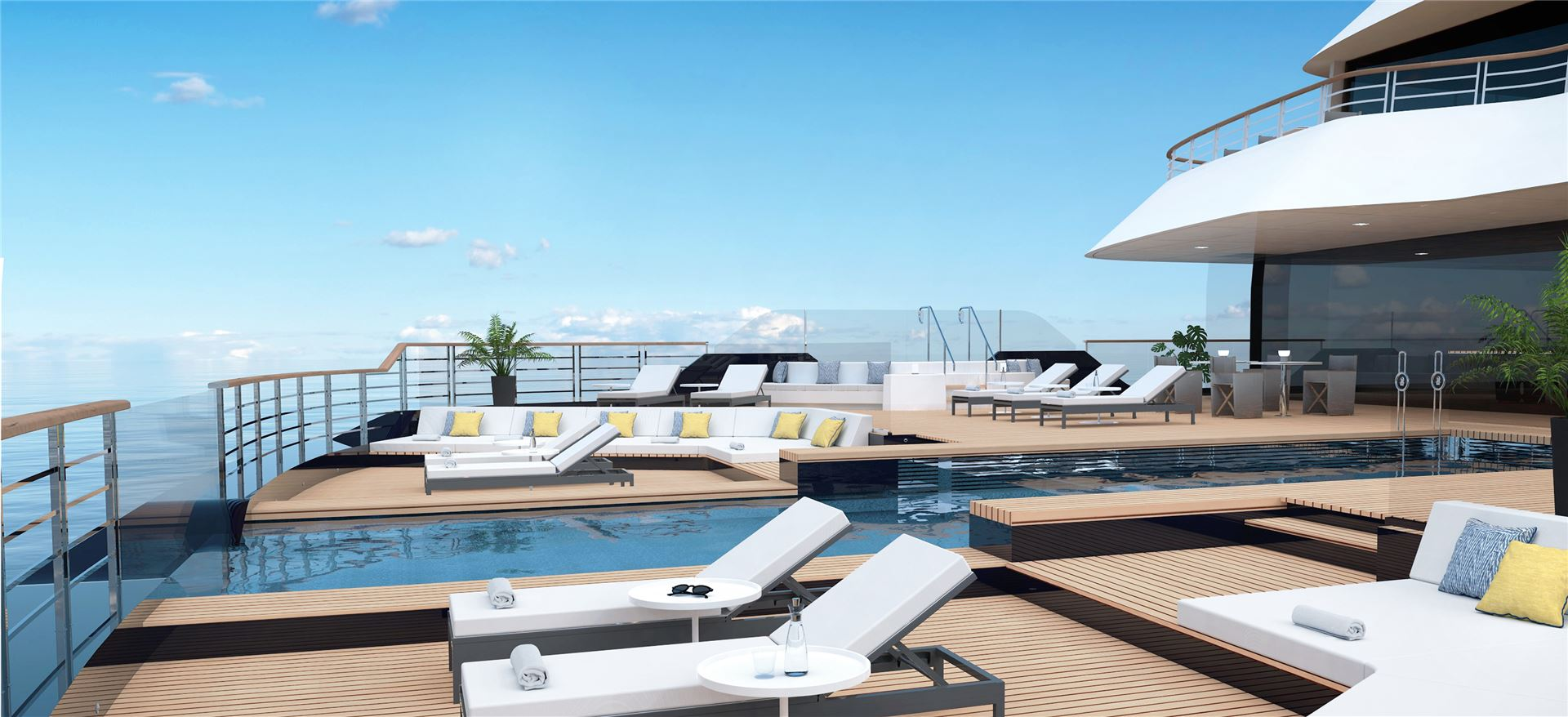 Ritz Carlton Yacht Aft main pool deck.