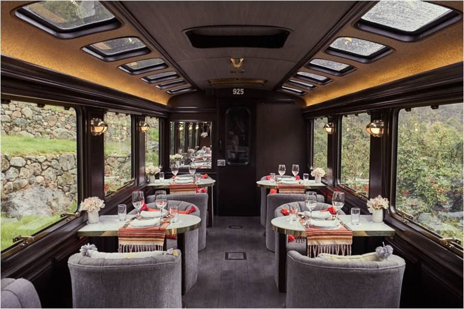 Dining Car Inca rail Machu Picchu