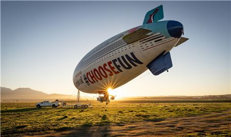Carnival Cruise Line's AirShip Makes Southern California Debut