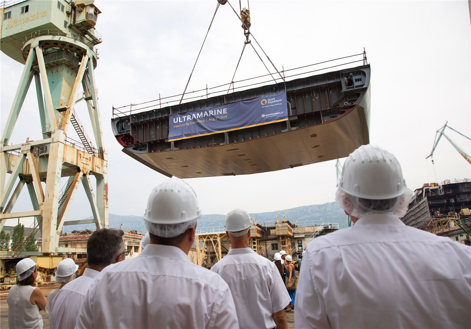 Quark Expeditions Celebrates Keel-Laying for New Ship Ultramarine