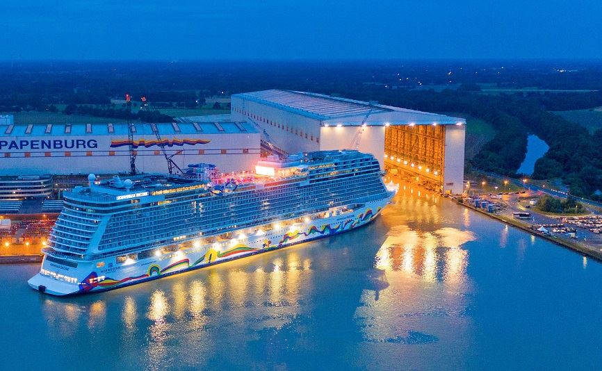 Norwegian Cruise Line's Newest Ship Encore Leaves Shipyard