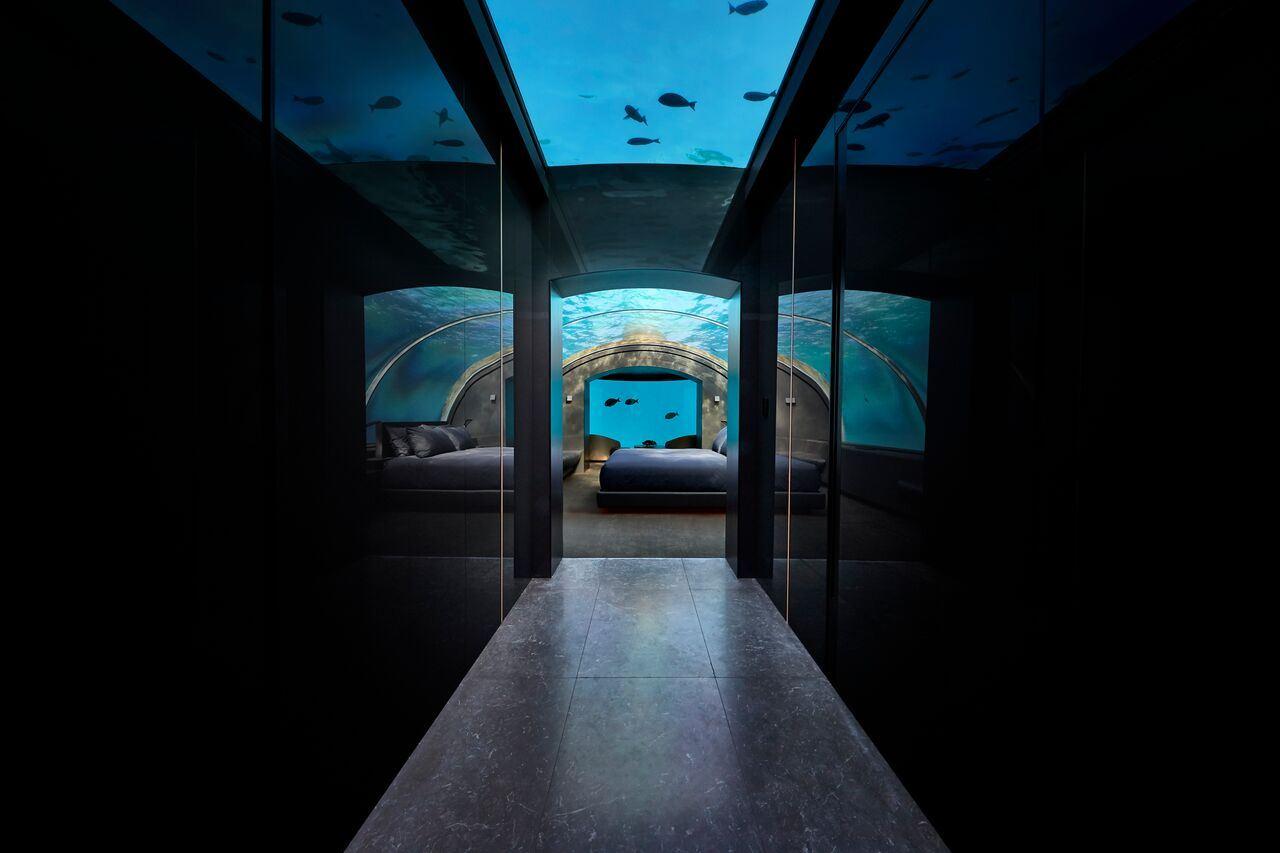 Undersea corridor at