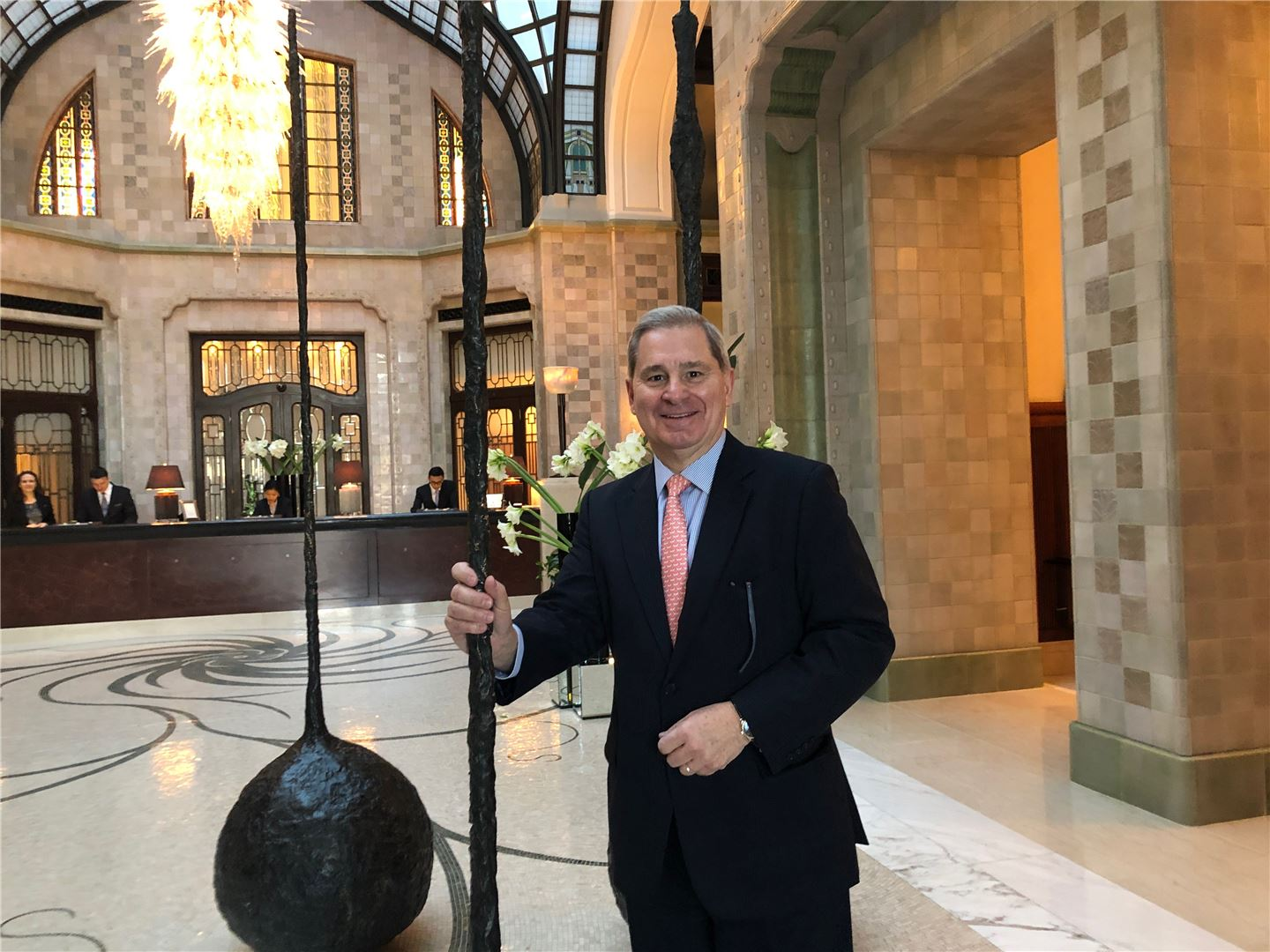 Yves Giacometti, GM Four Seasons Hotel Gresham Palace Budapest, in the hotel lobby (