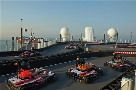 Norwegian Cruise Line Now Offering Unlimited Go Kart Passes on Bliss