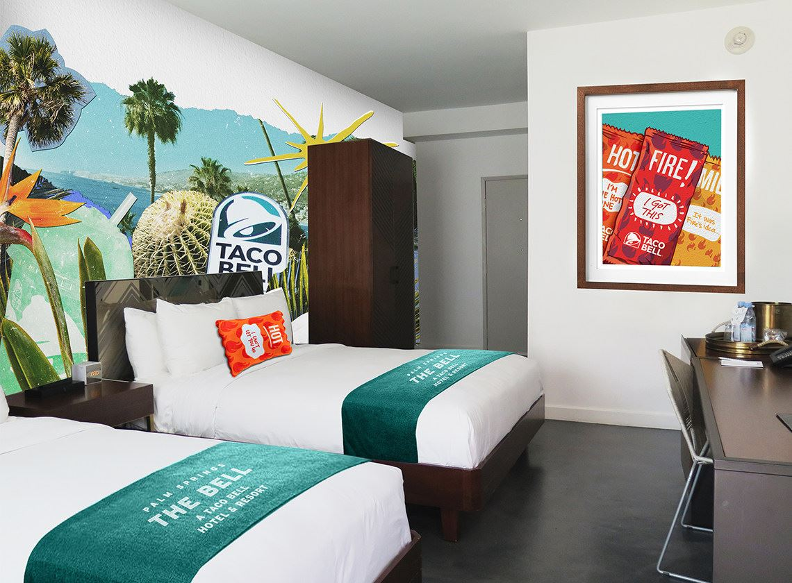Taco Bell hotel Guestroom
