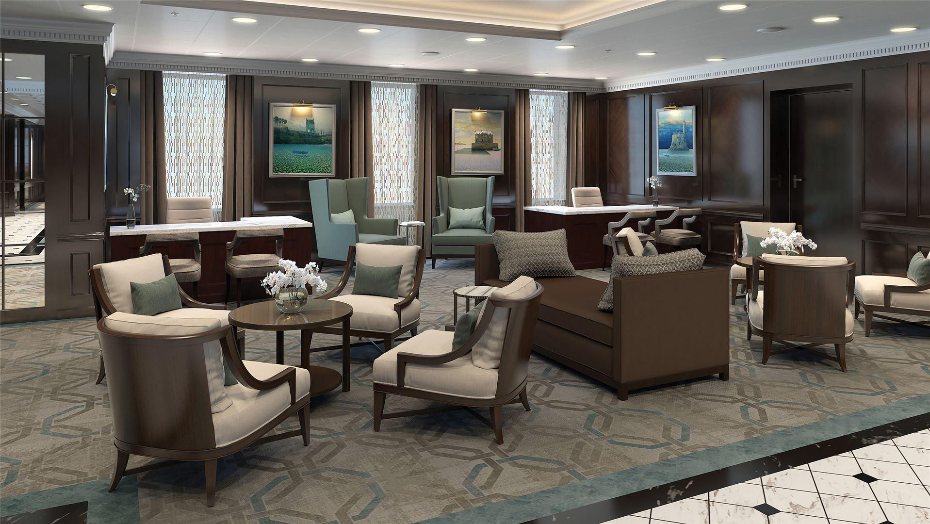 Penthouse Suite of the reimagined Regatta-Class ships