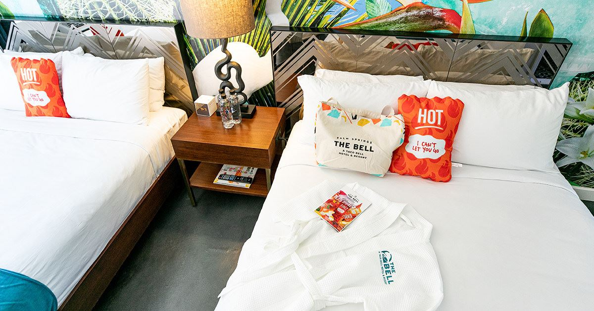 Taco Bell hotel The Bell: A Taco Bell Hotel Palm Springs