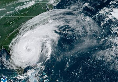Hurricane Dorian, Now Category 2 Storm, Traveling Parallel to Florida Coast