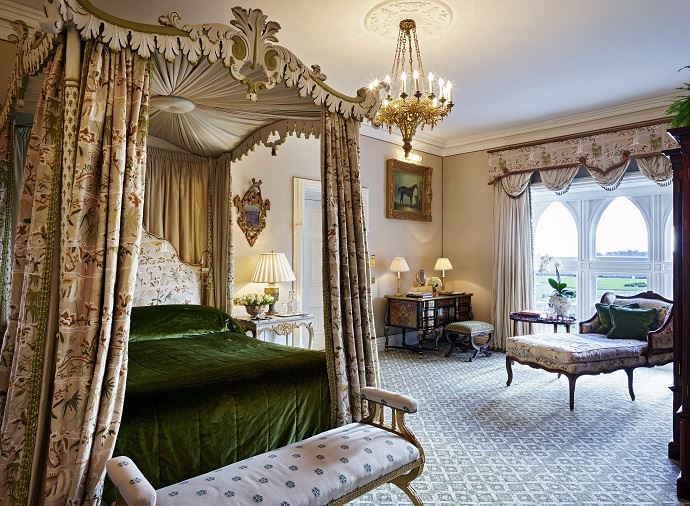 Ashford Castle Reagan Suite bed