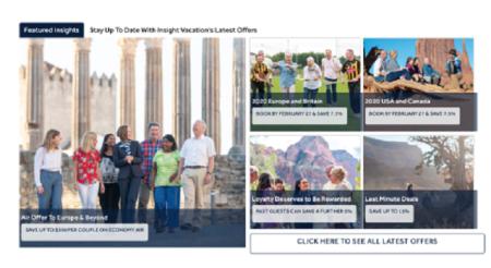 Insight Vacations Updates its Travel Advisor Portal