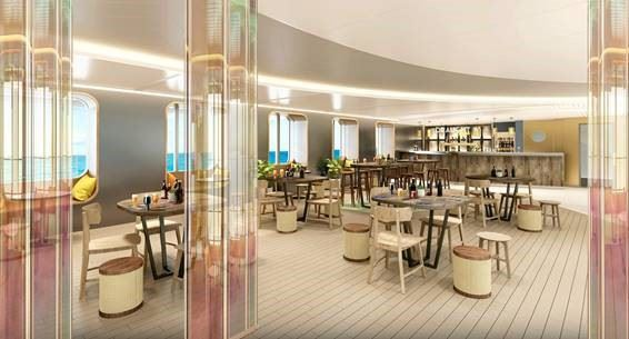 Virgin Voyages onboard beer Draught Haus