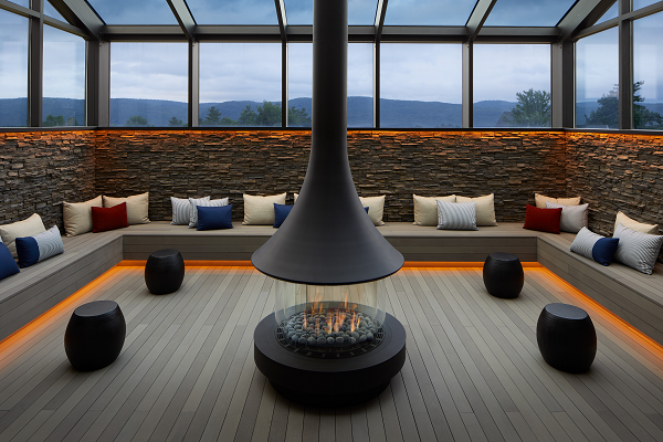 Women's lounge at Life in Balance Spa at Miraval Berkshires