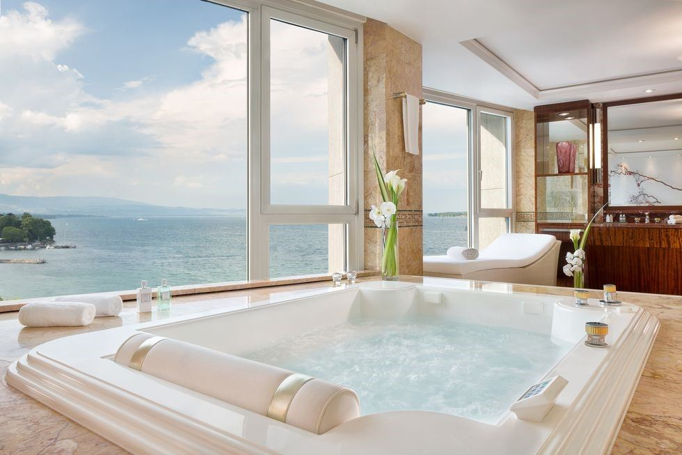 Over-the-top hotel suites royal penthouse Geneva