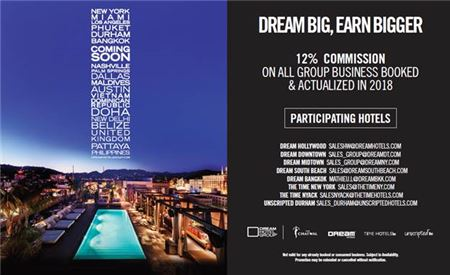 Dream Hotel Group Increases Group Commissions