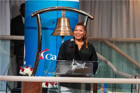 Queen Latifah Applauds Travel Agents at Carnival Horizon Launch