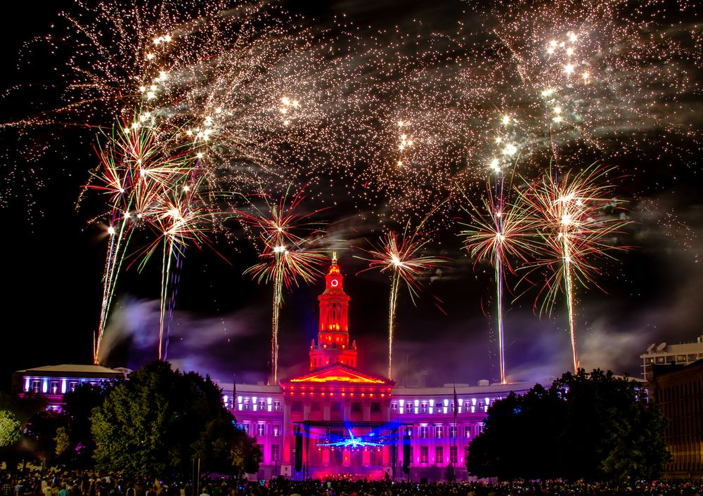 Civic Center Park fireworks july 4th best places to watch