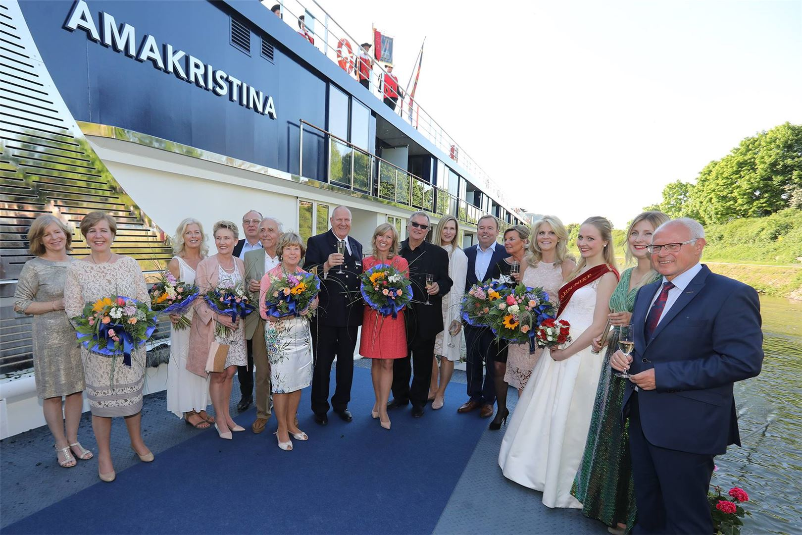 AmaWaterways Christens AmaKristina In Germany