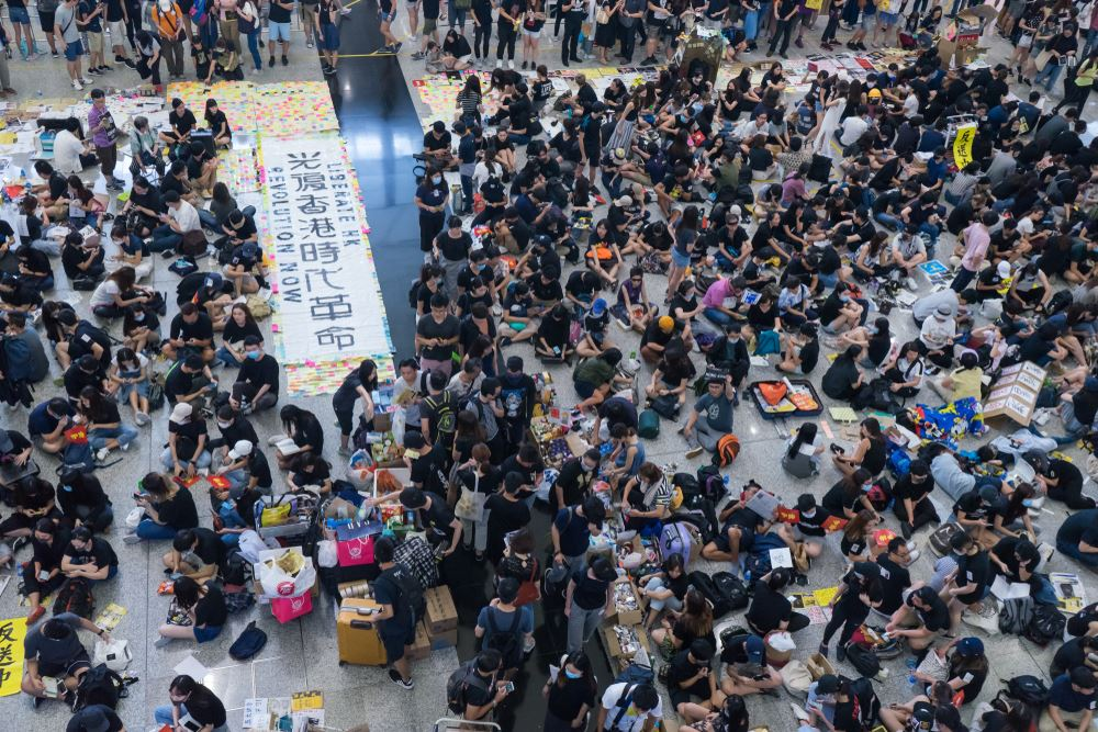 Protests Shut Down Hong Kong Airport for Second Straight Day