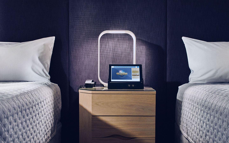 Aventura Hotel's in-room tablets
