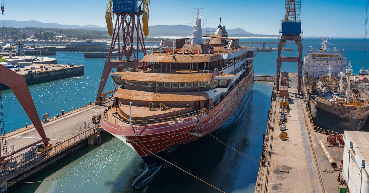 Atlas Ocean Voyages Takes Next Step Toward Debut with World Navigator Float Out